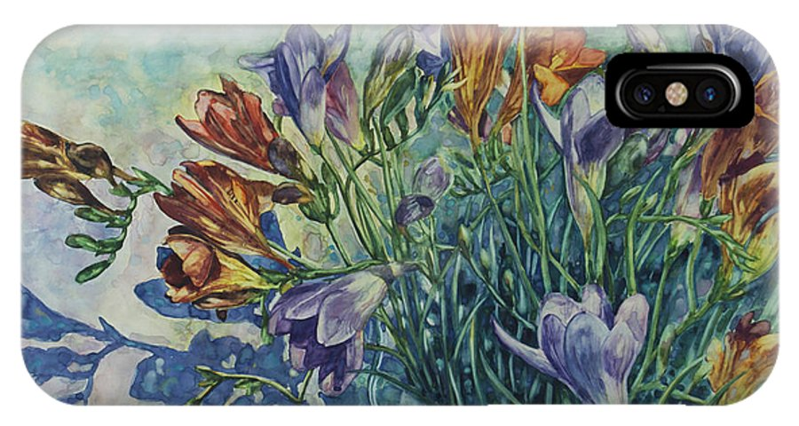 Flowers IPhone Case featuring the painting Frishias by Rick Nederlof