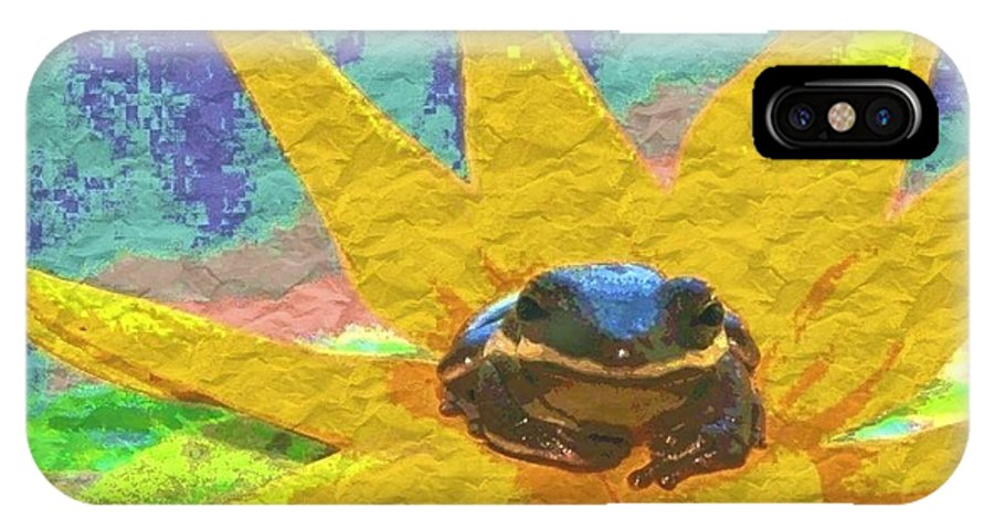 Frog IPhone X Case featuring the photograph Frog A Lilly 3 - Photosbydm by Debbie May