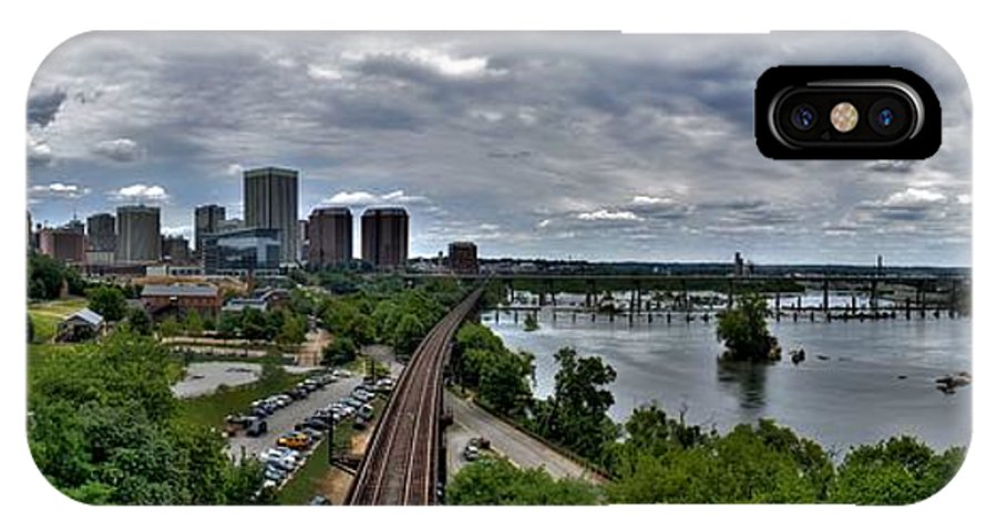 Panorama IPhone X Case featuring the photograph From A Distance by Tim Wilson