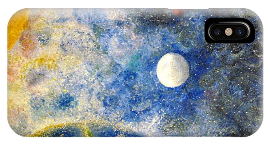 Pointillism IPhone X / XS Case featuring the painting From A Distance by Tina Swindell