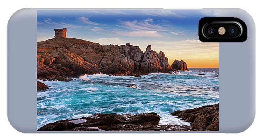 Sunset IPhone X Case featuring the photograph From Corsica by Pierre Larcher