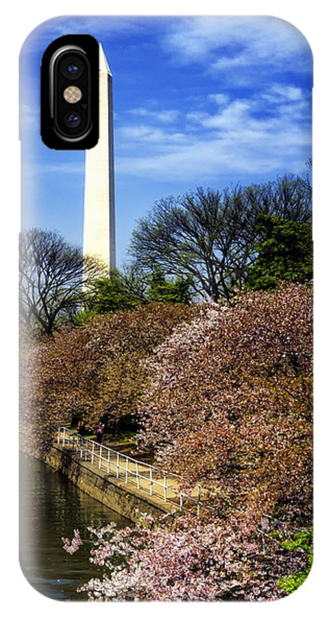 Washington IPhone X Case featuring the photograph From The Basin To The Monument by Joan Carroll