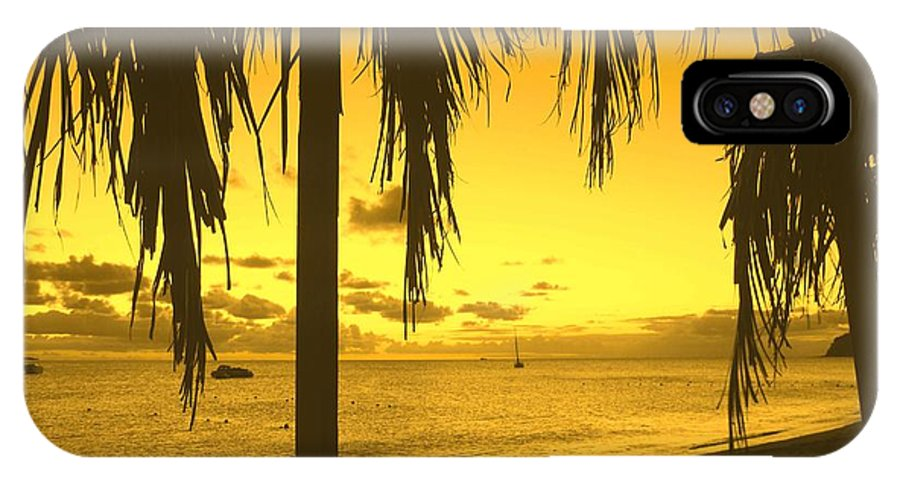 Sunset IPhone X Case featuring the photograph From The Shiggady Shack by Ian MacDonald