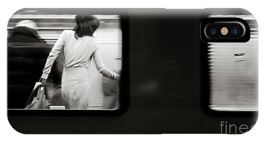 B&w IPhone X Case featuring the photograph From The Window's Train by Diego Muzzini