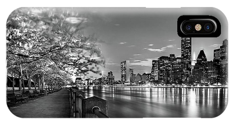 One World Trade Center IPhone X Case featuring the photograph Front Row Roosevelt Island by Az Jackson