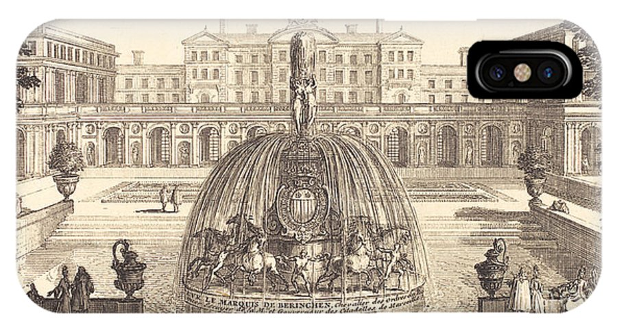 IPhone X Case featuring the drawing Frontispiece by S?bastien Le Clerc I