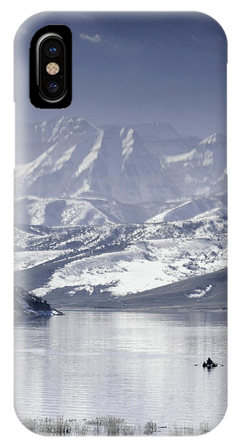 Mountains IPhone X Case featuring the photograph Frosted Mountains by Scott Sawyer