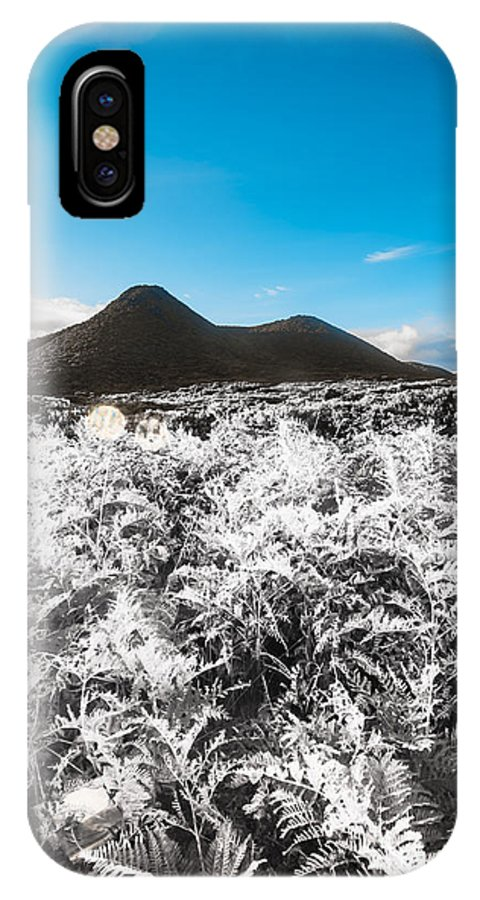 Highlands IPhone X / XS Case featuring the photograph Frosted Over Hinterland by Jorgo Photography - Wall Art Gallery