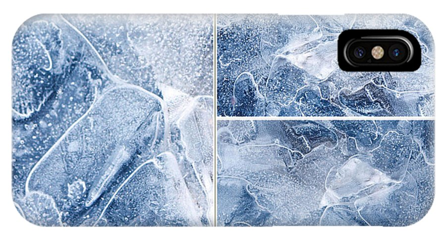 Frostwork ...2584 IPhone X Case featuring the photograph Frostwork ...2584 by Tom Druin