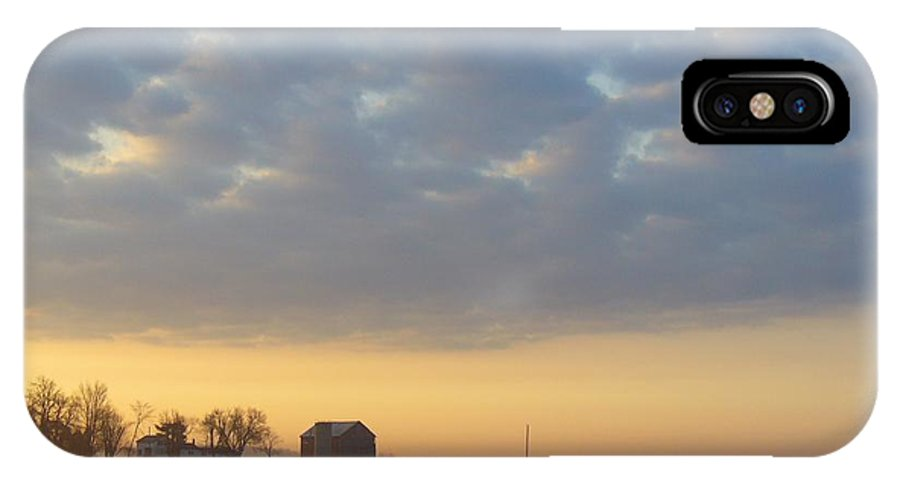 Sunrise IPhone Case featuring the photograph Frosty Spring Sunrise 2 by Peggy King