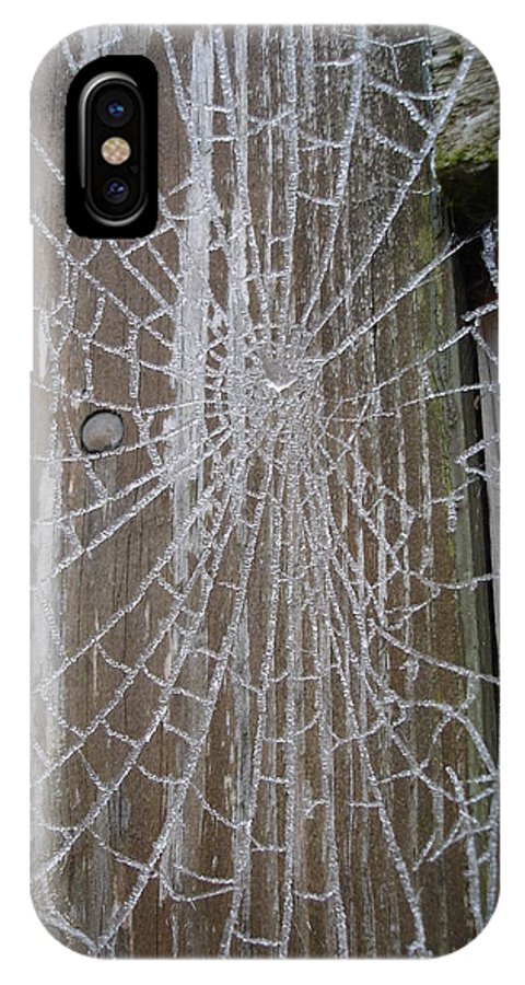 Winter IPhone X Case featuring the photograph Frosty Web by Susan Baker