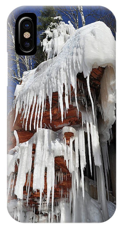 Apostle Islands National Lakeshore IPhone X Case featuring the photograph Frozen Apostle Islands National Lakeshore Portrait by Kyle Hanson