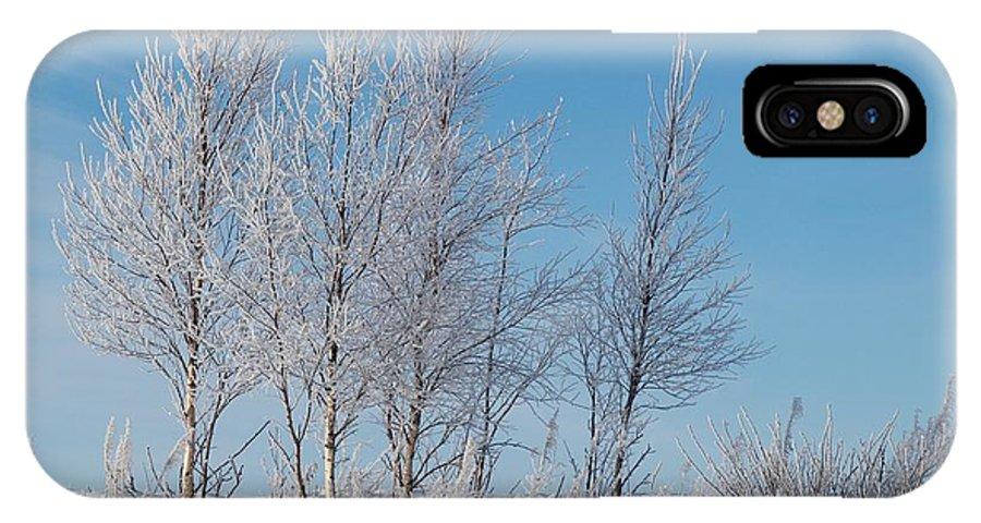 Talvi IPhone X / XS Case featuring the photograph Frozen Views 2 by Jouko Lehto