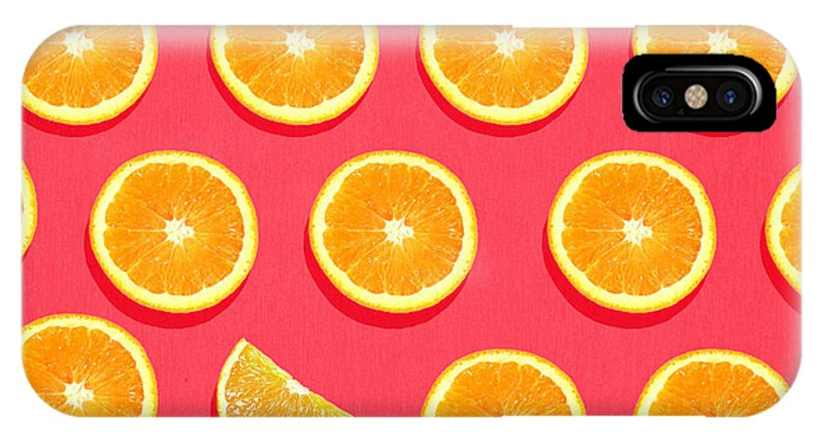 Abstract IPhone X Case featuring the painting Fruit 2 by Mark Ashkenazi