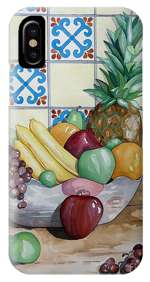 Fruit Painting IPhone Case featuring the painting Fruit Bowl by Kandyce Waltensperger