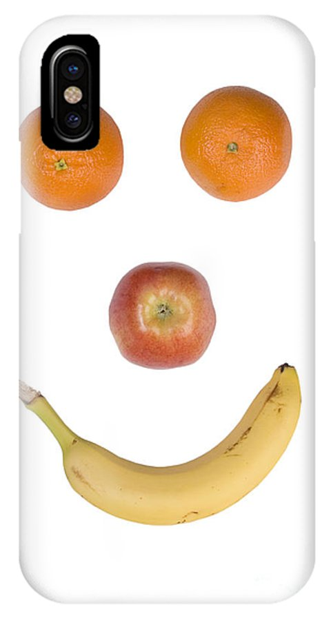 Fruit IPhone X Case featuring the photograph Fruity Happy Face by James BO Insogna