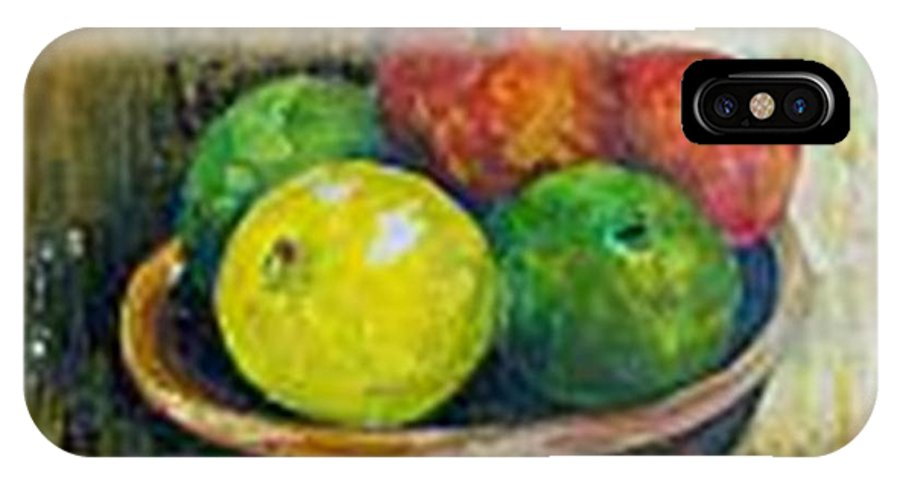 Apples And Oranges IPhone X / XS Case featuring the painting Frutas by Carol P Kingsley