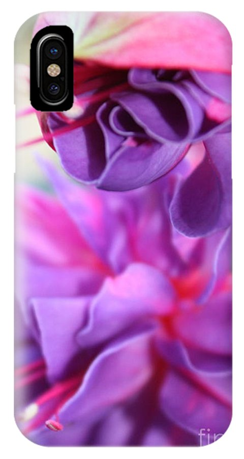 Florals IPhone X Case featuring the photograph Fuchsia Drama by Carol Groenen