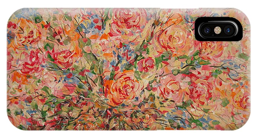 Flowers IPhone X Case featuring the painting Full Bouquet. by Leonard Holland