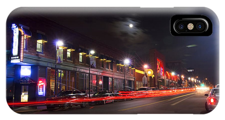 Kansas City IPhone X Case featuring the photograph Full Moon And Night Clubs by Sven Brogren