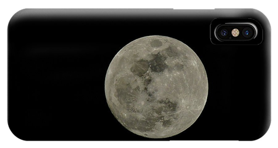 2018 IPhone X Case featuring the photograph Full Moon by Dwain Patton