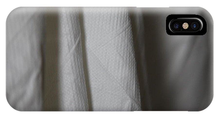 White IPhone X Case featuring the photograph Full Of Empty - Sleep by Amanda Barcon