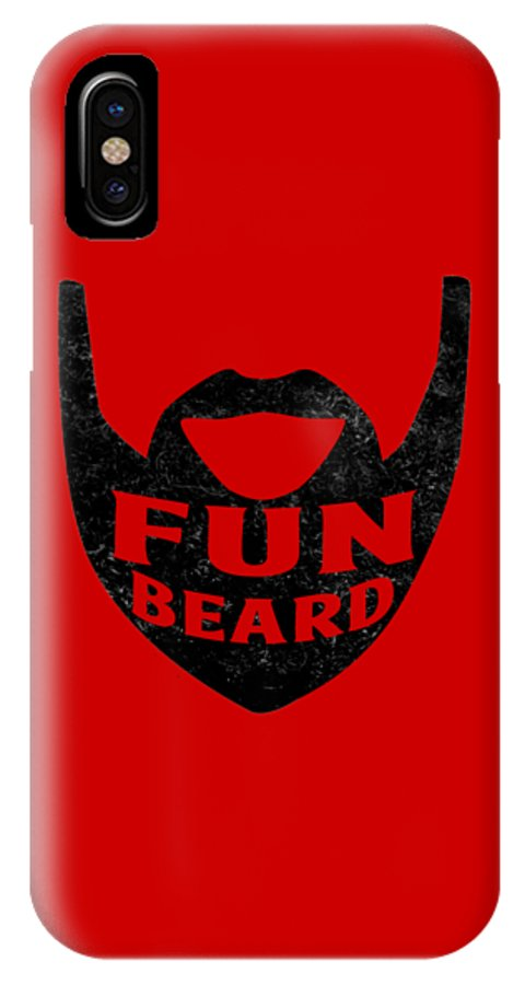 Beard IPhone X Case featuring the digital art Fun Beard by Gazz Wood