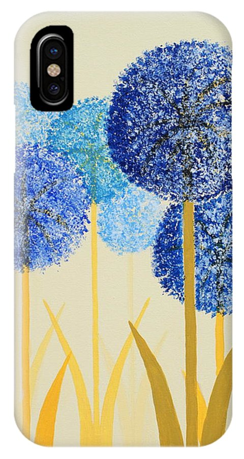 Art Decor IPhone X Case featuring the painting Fun Colours 2 by Frank Hamilton