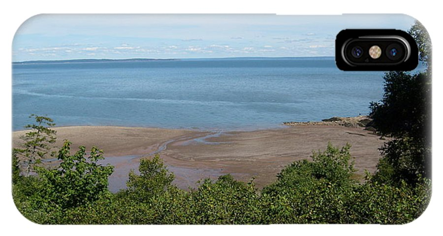 Digital IPhone X Case featuring the photograph Fundy View by Melissa Parks