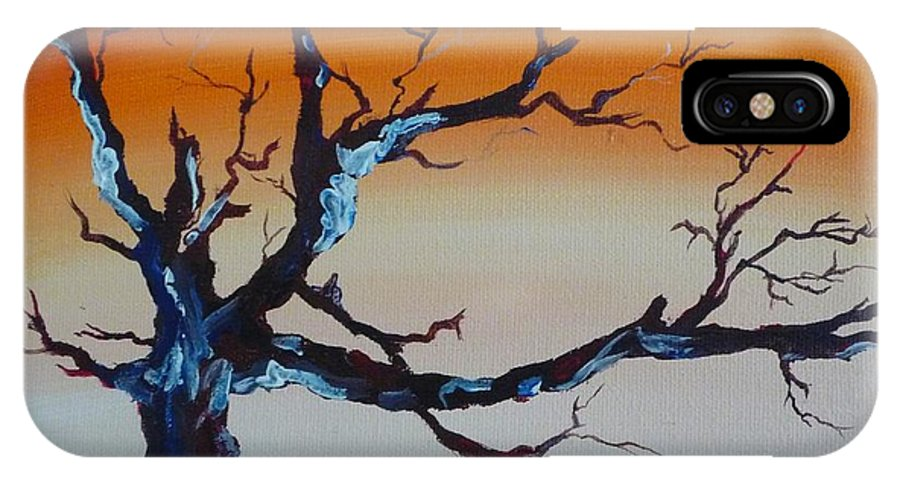 Tree IPhone X Case featuring the painting Fungus Tree by Patti Bean