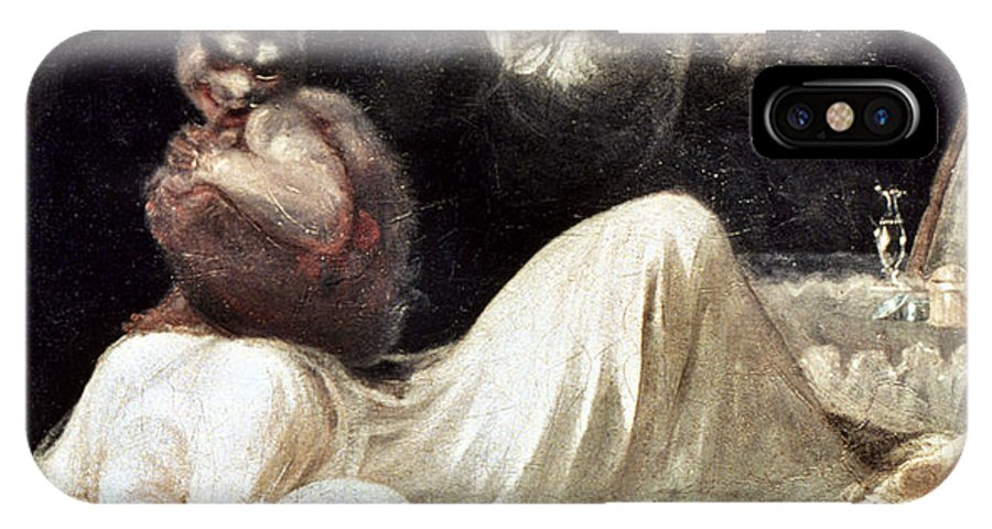 1781 IPhone X Case featuring the photograph Fuseli: Nightmare, 1781 by Granger