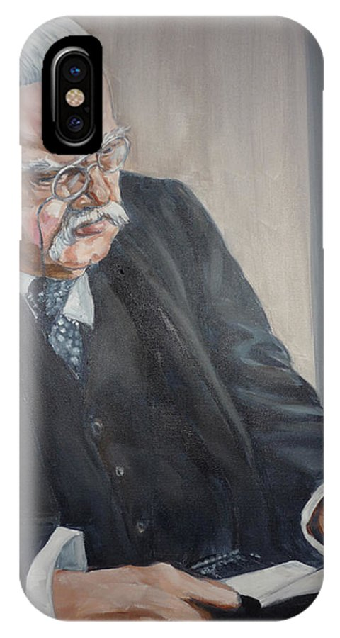 Chesterton Author Catholic IPhone X Case featuring the painting G K Chesterton by Bryan Bustard