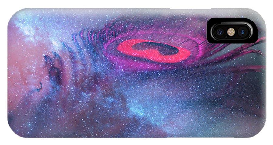 Jenny Rainbow Fine Art Photography IPhone X Case featuring the photograph Galactic Eye by Jenny Rainbow
