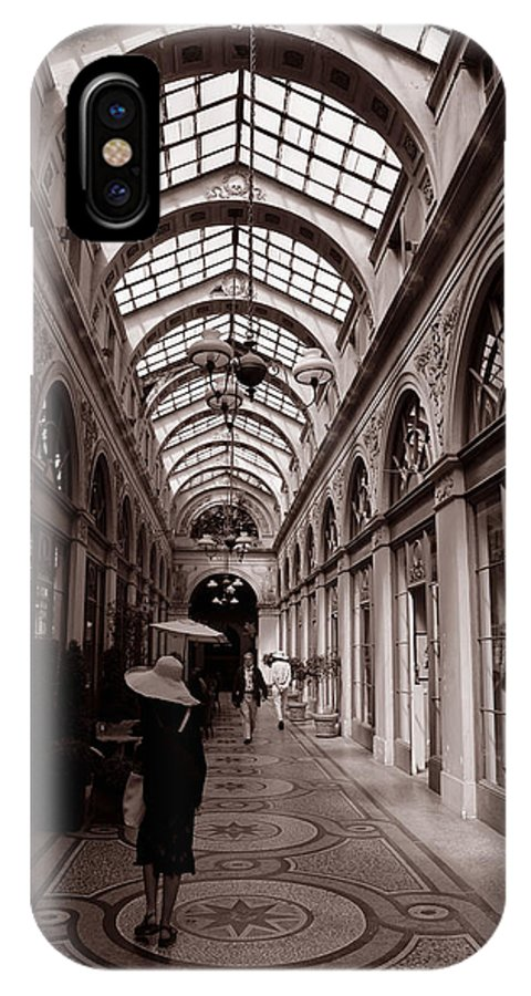 Paris IPhone X Case featuring the photograph Galerie Vivienne 2 by Andrew Fare