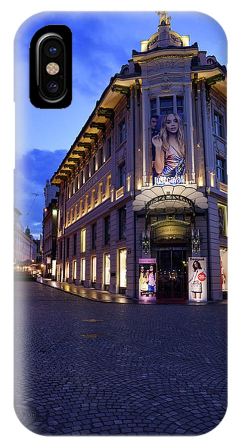Urbanc House IPhone X Case featuring the photograph Gallerija Emporium Luxury Department Store In The Urbanc House O by Reimar Gaertner
