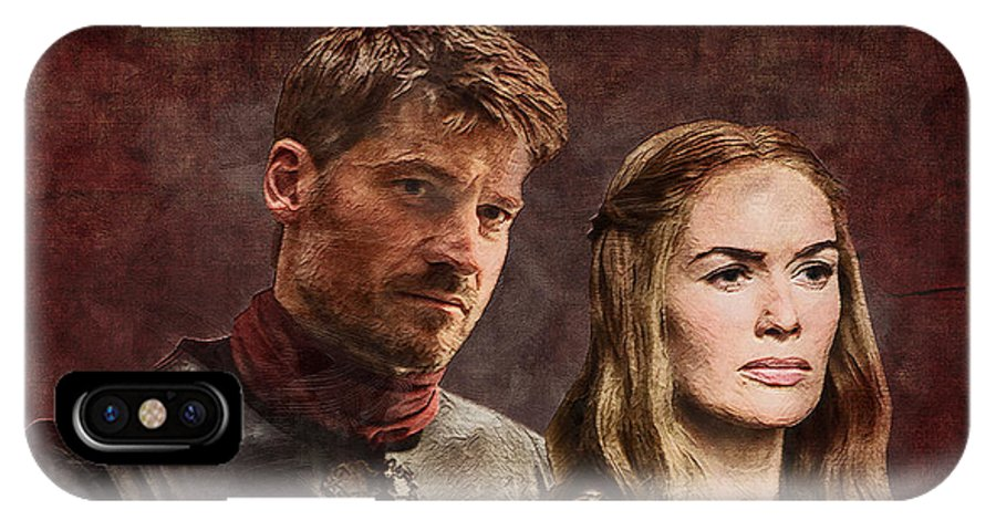 Game Of Thrones IPhone X Case featuring the digital art Game Of Thrones. Cersei And Jaime. by Nadezhda Zhuravleva