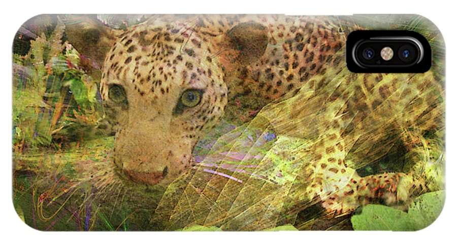 Game Spotting IPhone X Case featuring the digital art Game Spotting by John Beck
