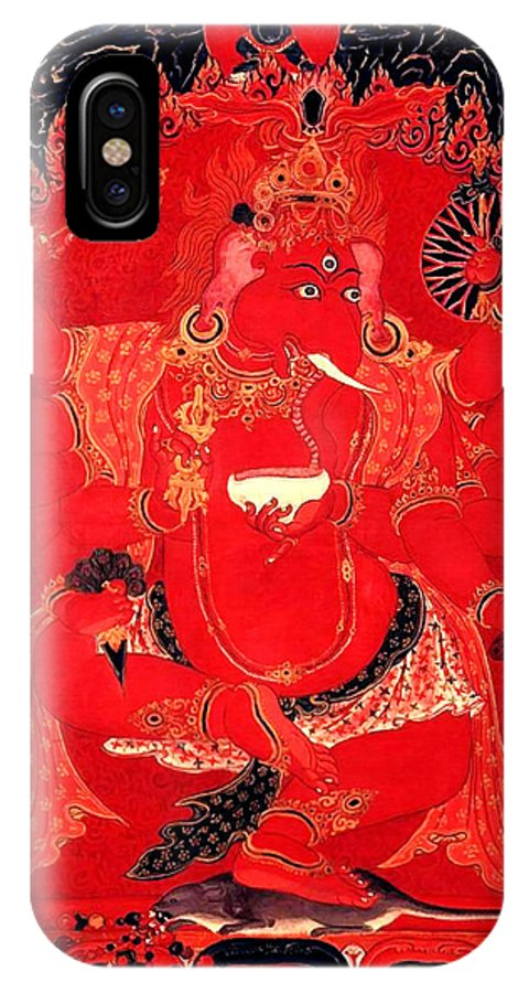 Ganesh IPhone X Case featuring the photograph Ganapati 14 by Jeelan Clark
