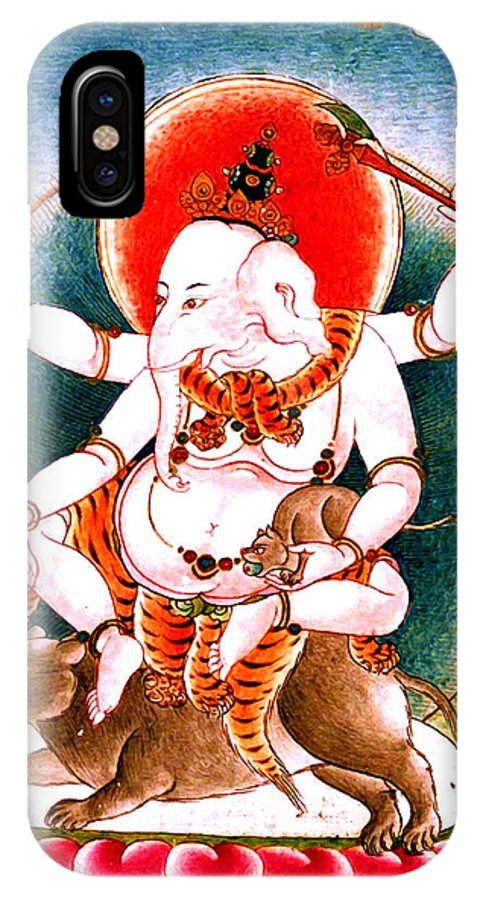 Ganesh IPhone X Case featuring the photograph Ganapati 2 by Jeelan Clark