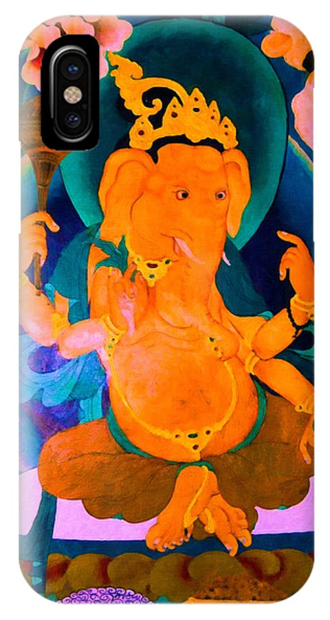 Ganesh IPhone X Case featuring the photograph Ganapati 4 by Jeelan Clark
