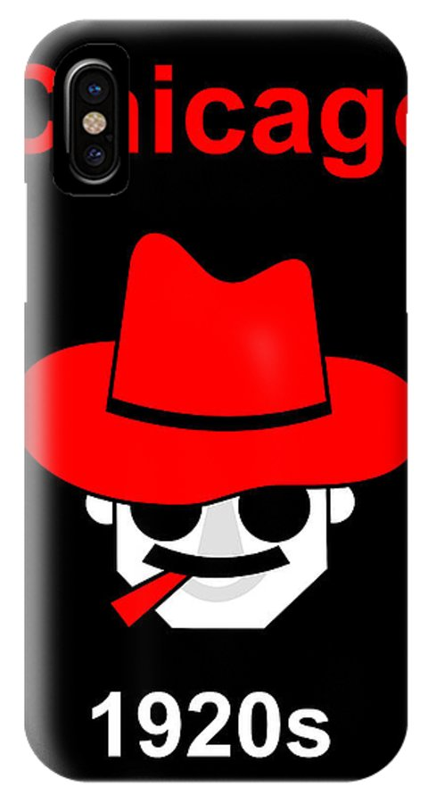 Gangster IPhone X Case featuring the digital art Gangster by Asbjorn Lonvig