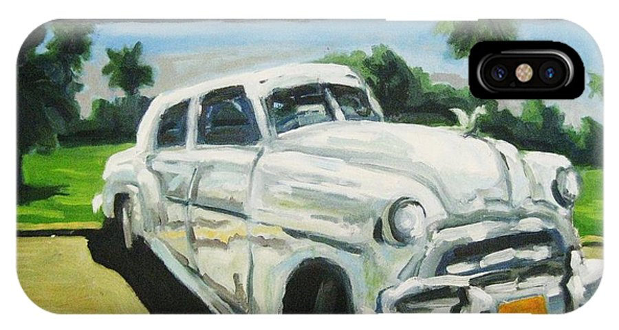 Old Cars IPhone Case featuring the painting Gangsters On Vacation by John Malone