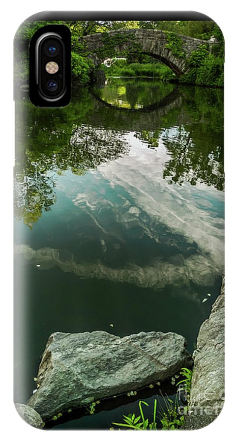 Central Park IPhone X Case featuring the photograph Gapstow Bridge In Central Park by James Aiken