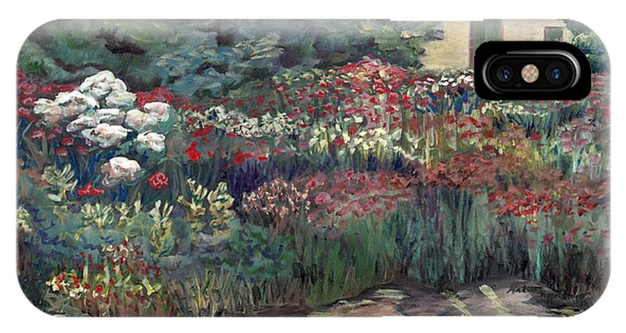 Breck IPhone Case featuring the painting Garden At Giverny by Nadine Rippelmeyer