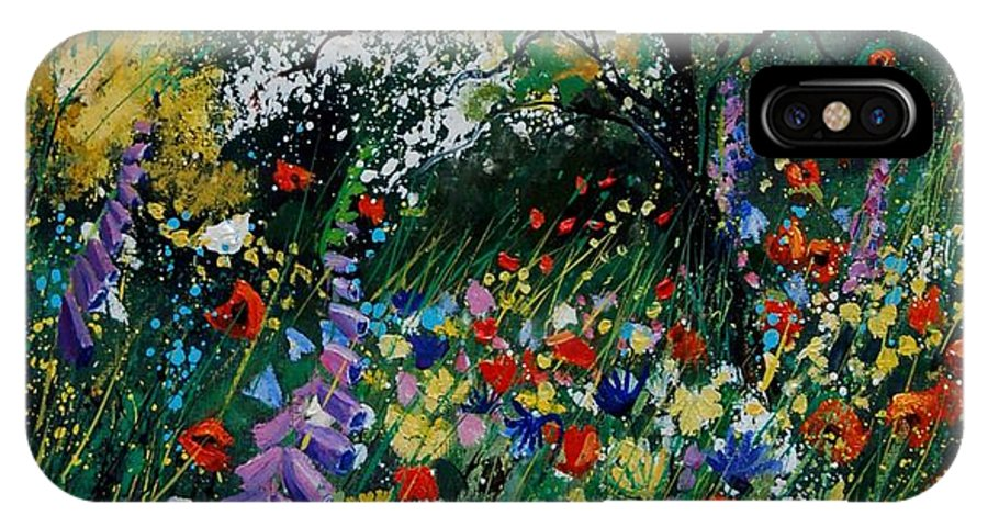 Flowers IPhone Case featuring the painting Garden Flowers by Pol Ledent