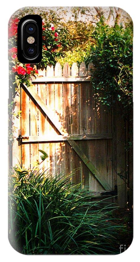 Garden Gate IPhone X Case featuring the photograph Garden Gate by Carol Groenen