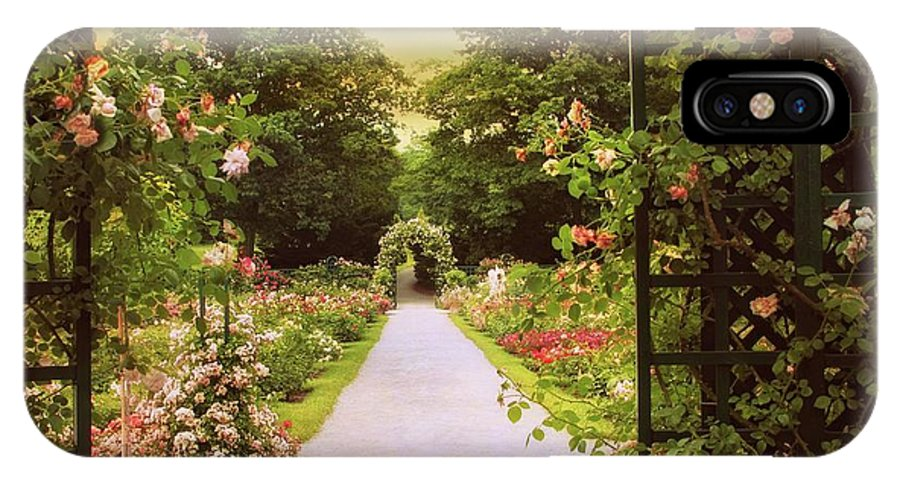 Spring IPhone X Case featuring the photograph Garden Gate by Jessica Jenney