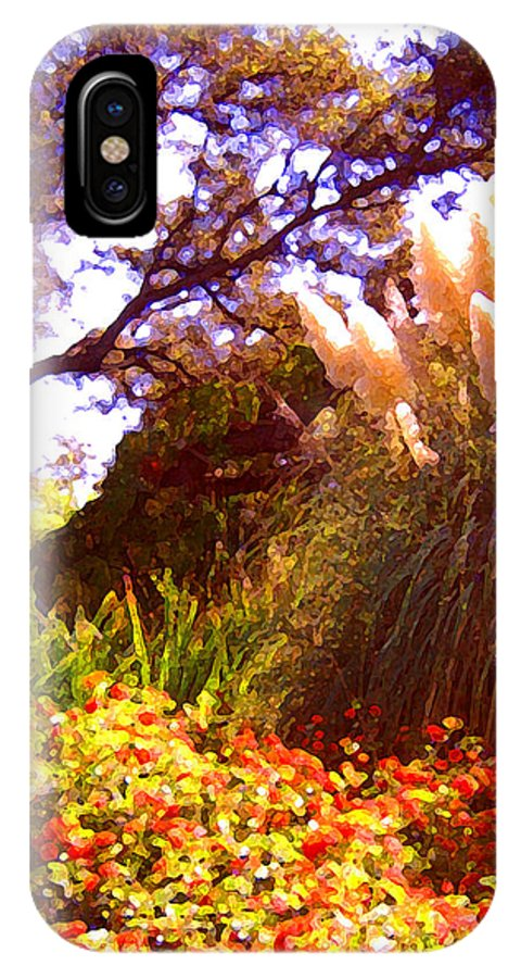 Landscapes IPhone X Case featuring the painting Garden Landscape by Amy Vangsgard