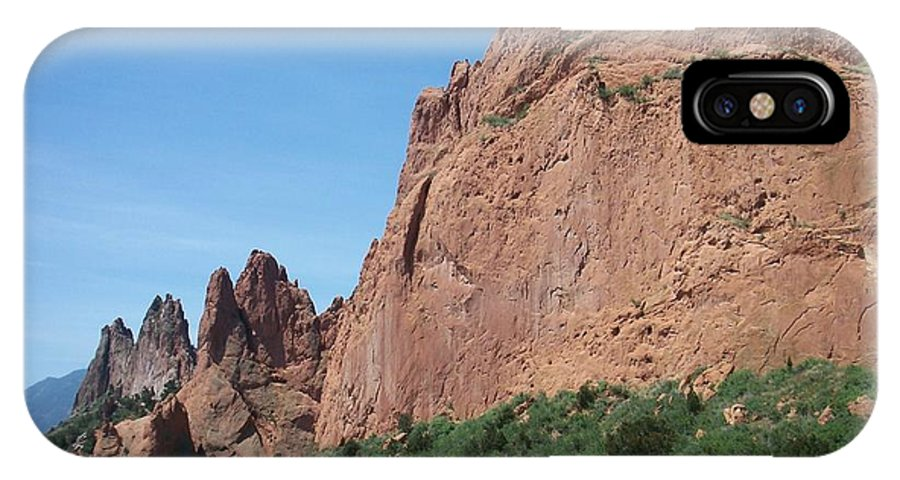 Colorado IPhone X Case featuring the photograph Garden Of The Gods by Anita Burgermeister