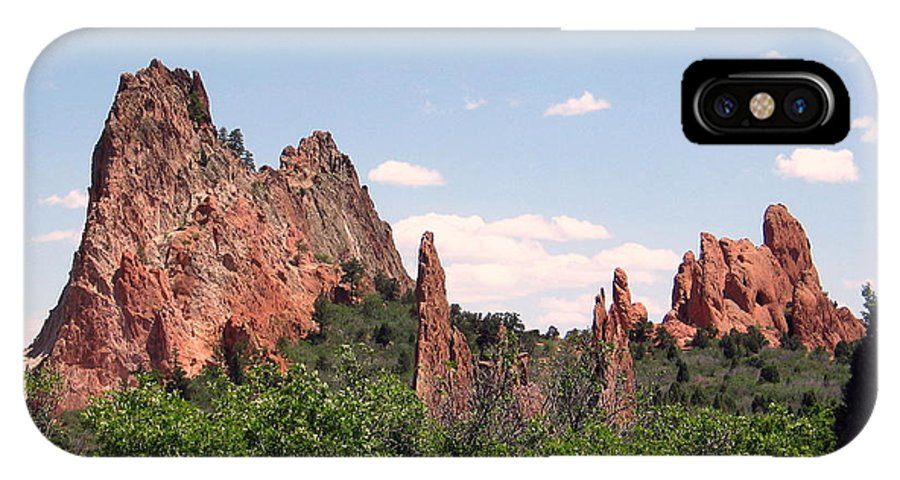 Colorado IPhone X Case featuring the photograph Garden Of The Gods by Margaret Fortunato